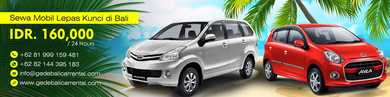 Gede Bali Car Rental, Rental Mobil Murah Lepas Kunci di Bali Rp. 160.000 / 24 Jam
